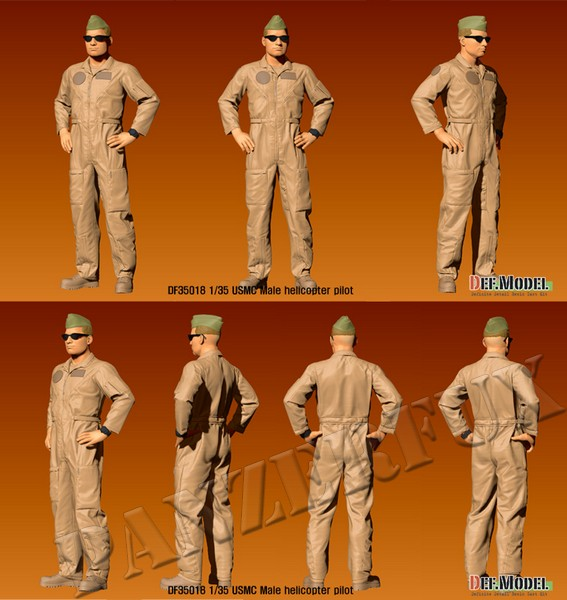 1/35 USMC Male Helicopter Pilot, DEF Model, DF35018 - Bild 2