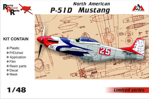 1/48 North American P-51D Mustang, Arsenal Model Group, 48501 - Bild 1