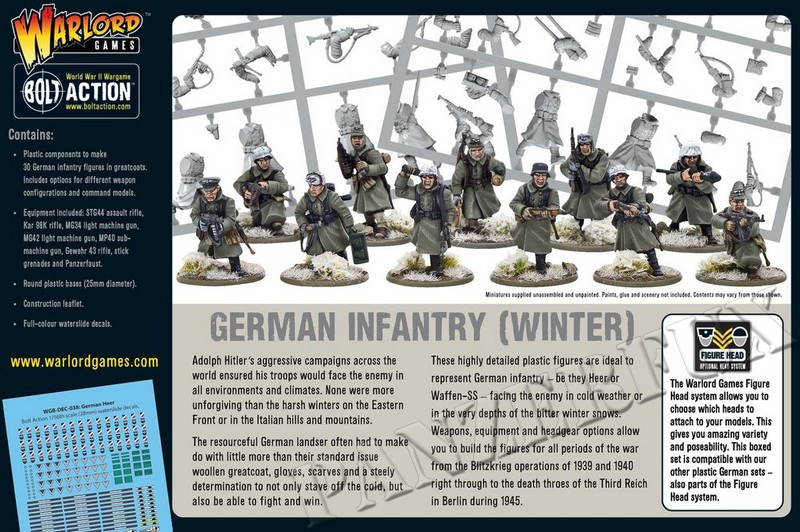1/56 German Grenadiers in Winter, Warlord Games402012027 - Bild 2