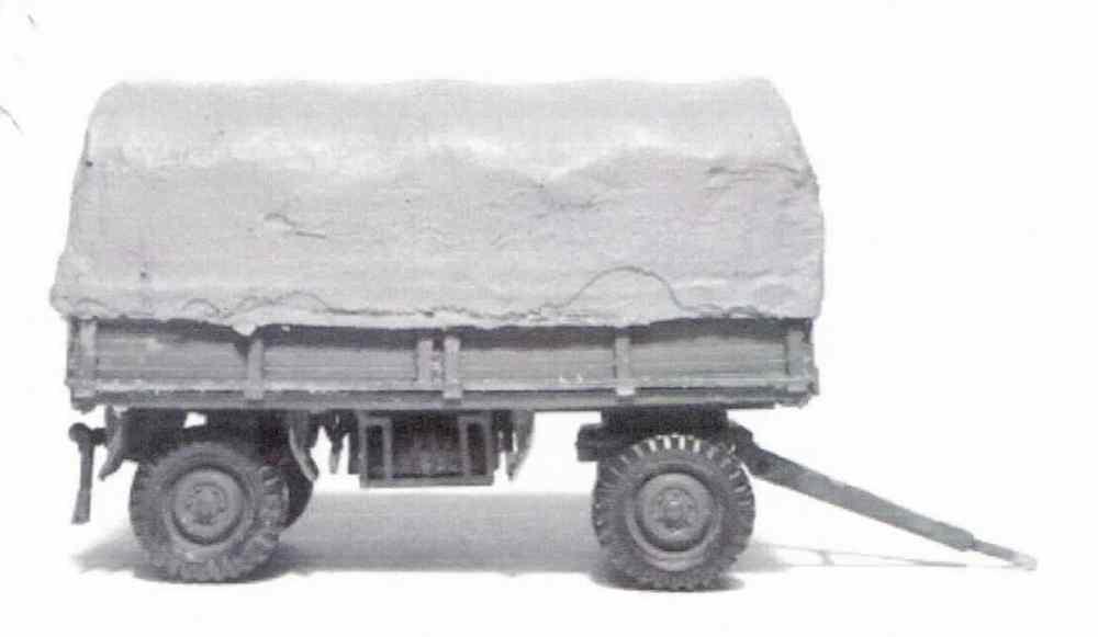 1//87 Brekina 3achs Pritsche//Plane Anhänger blau//schwarz Sondermodell Reinhardt