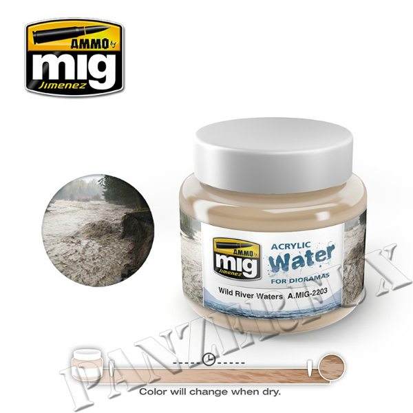 Acrylic Water, Lake Waters, Ammo by Mig, 2203 - Bild 1